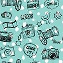 Sample Backdrop Teal Camera