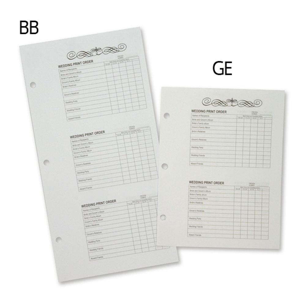 TAP Proof Album Order Forms