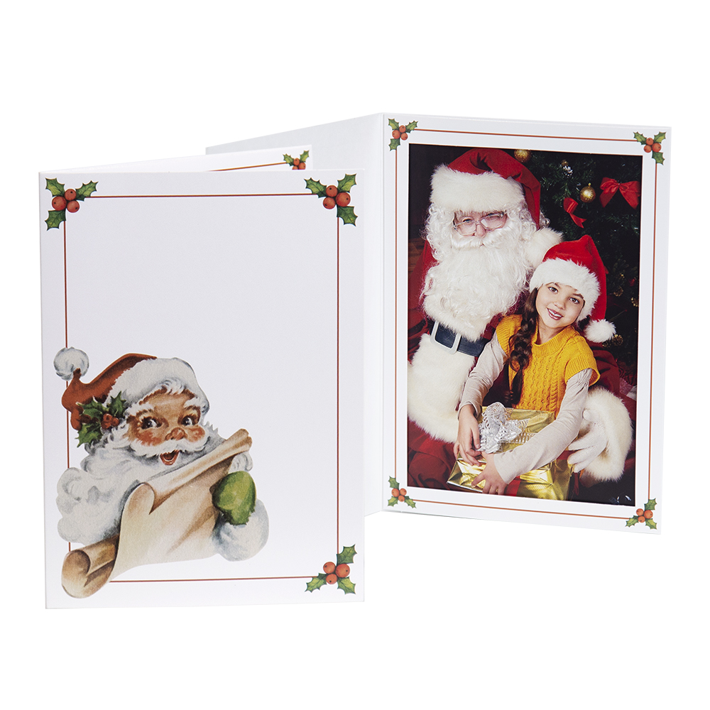 Vintage Santa Folder