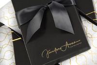 black leather deluxe portrait box