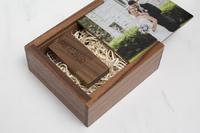 walnut Flash Drive Box