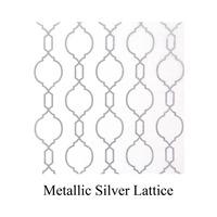 silver metallic lattice print tissue paper